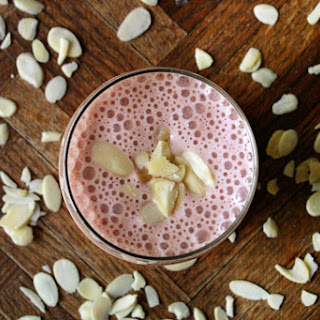 Strawberry Banana Oatmeal Protein Shake.