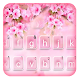 Floral Pink Sakura Keyboard Theme Download for PC Windows 10/8/7