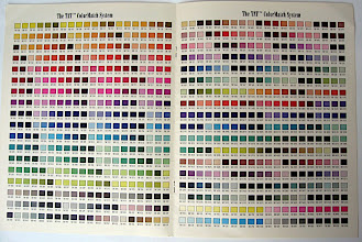 Photo: This was one of the most time-consuming portions of the brochure, as the PMS chart had to be altered in CMYK up or down to the nearest 10%, based on the limitations of the process.