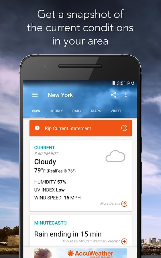 AccuWeather with Superior Accuracy™- picha ya skrini
