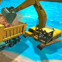 River Sand Excavator Simulator 3D icon