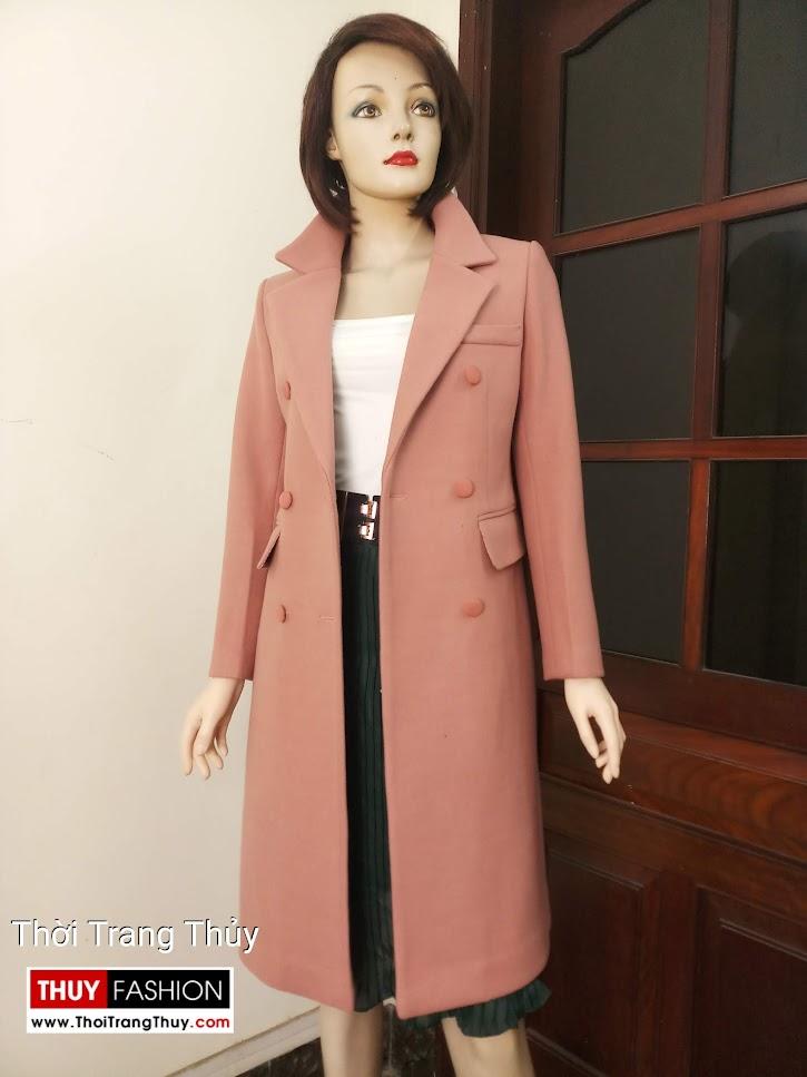 Áo măng tô dạ nữ dạo phố V663 thời trang thủy