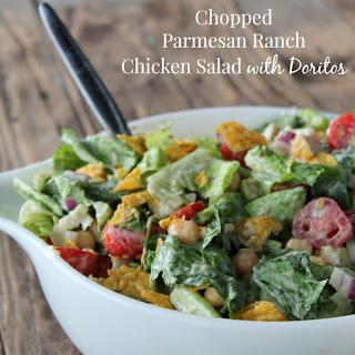 Chopped Parmesan Ranch Chicken Dorito Salad.