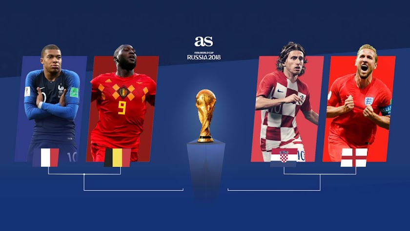 Semifinales del Mundial 2018 de fútbol: TV, horarios