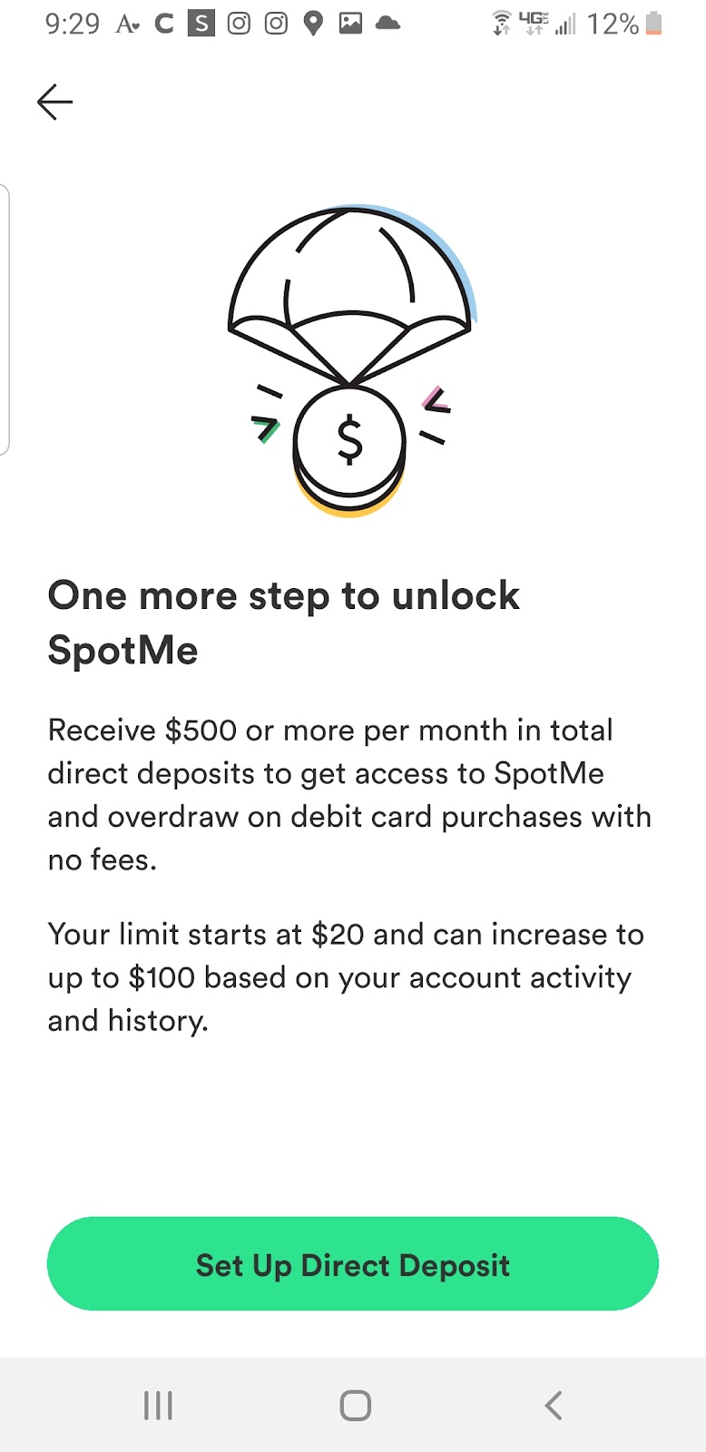 A screenshot sharing that Chime members can earn $50 for referring new members.