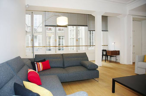 Living area at Rue Monsieur-le-Prince