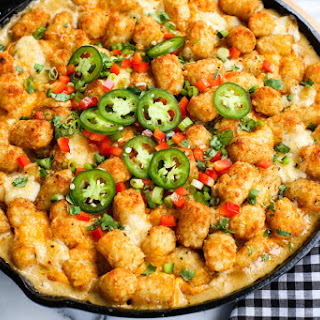 Kicked-Up Tater Tot Hotdish.