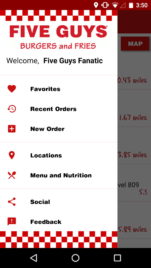 Five Guys Burgers & Fries- screenshot