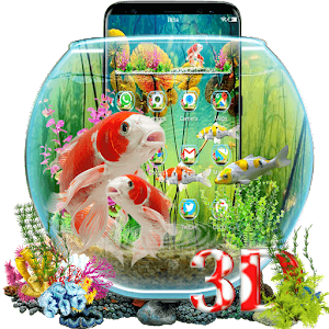 Download 3d aquarium koi fish theme for pc for Carpe koi aquarium 300 litres