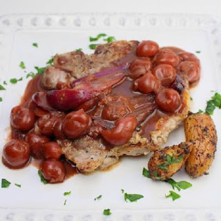 Pressure Cooker Pork Chops with Sour Cherries.