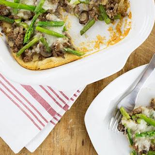 Beef, Mushroom, and Asparagus Bake