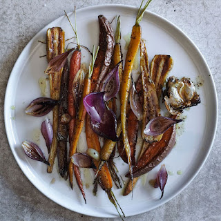 Root Vegetables Roasted with Maple and Mustard