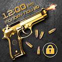 Gun shooting lock screen icon