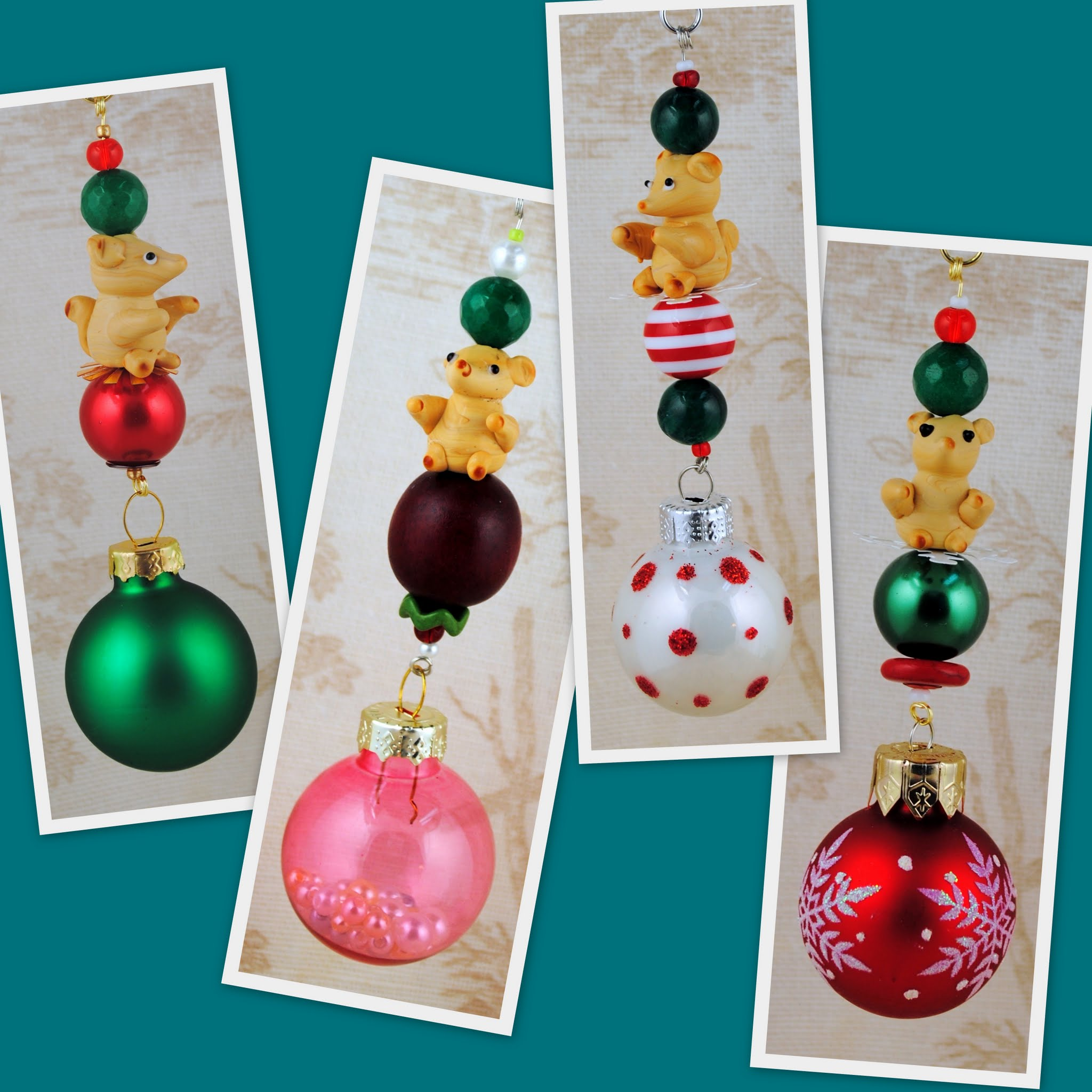 Mod, Fresh & Frosty Christmas Tree Ornaments