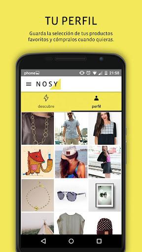 Nosy la app de diseño y moda