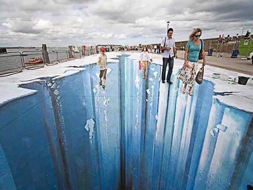 3Dストリートアートのアイデア