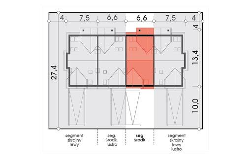 Mozaika segment środkowy - Sytuacja