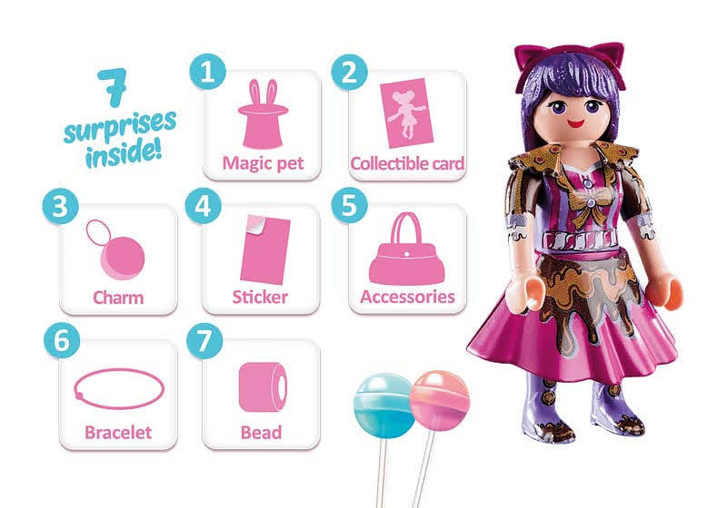 Contenido real de Playmobil® 70384  Candy World Viona
