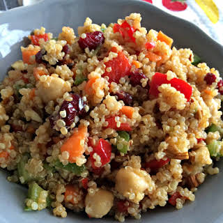 Quinoa Salad with Dried Cranberries and Almonds.