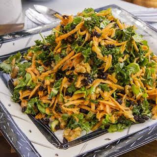 Raw Sweet Potato and Kale Salad.
