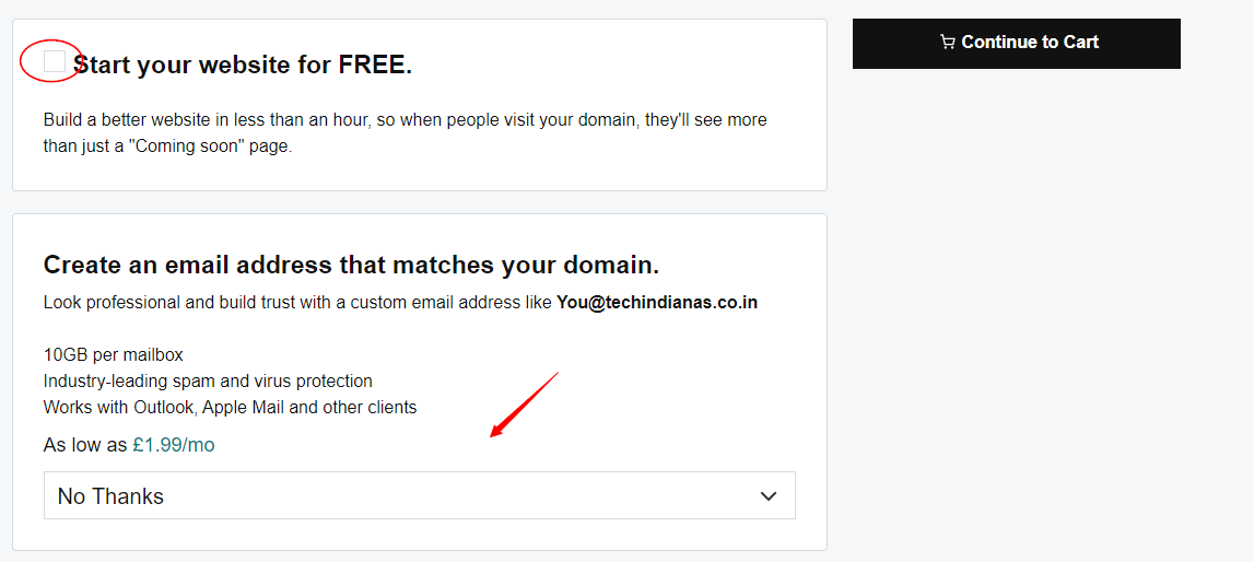 How to register a domain on GoDaddy in India