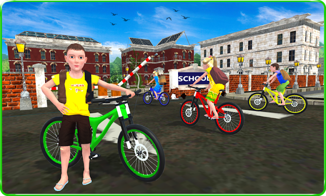 Kids School Time Bicycle Race Android 5