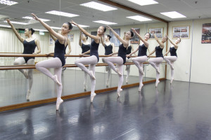 adult ballet at barre