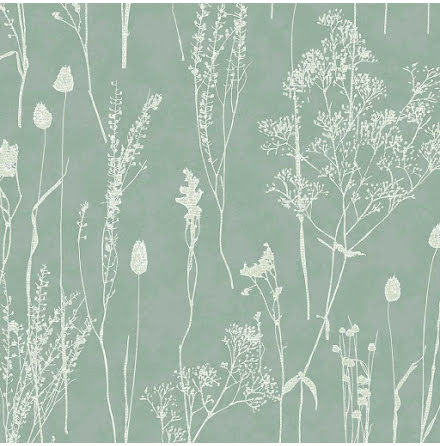 Eijffinger Waterfront Tapet med växter 300815 Turkos