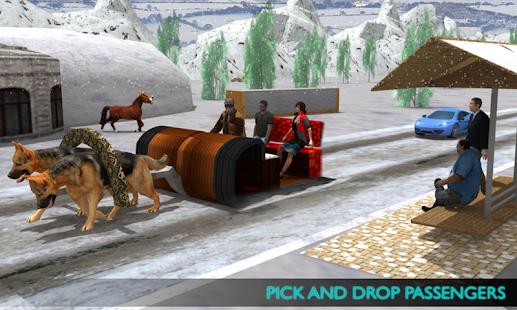 Dog Sledding Transportation - náhled