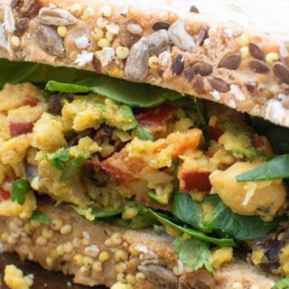 High-Protein Curry Chickpea Sandwich [Vegan, Gluten-Free] Recipe