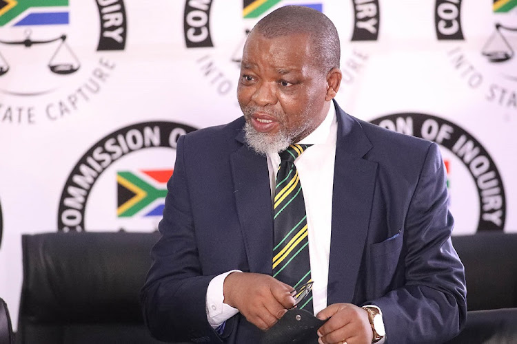 ANC national chairperson Gwede Mantashe at the state capture inquiry on Wednesday.