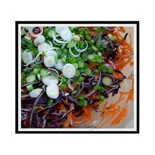 Red Cabbage Coleslaw With Tahini Dressing
