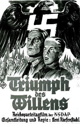 """Περιγραφή: Poster advertising the Nazi Propaganda Film """"Triumph of the Will ..."""