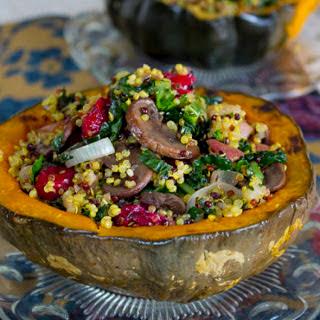 Stuffed Squash With Quinoa Pilaf [Vegan, Gluten-Free].