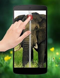 Elephant Zipper Lock screenshot