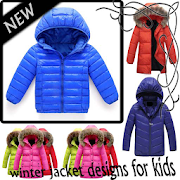 winter jacket designs for kids icon