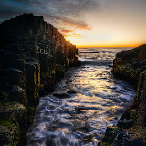 Fingal Low tide 01 by Daryl James - Landscapes Waterscapes