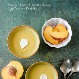 Peach Lemongrass Soup with Creme Fraiche