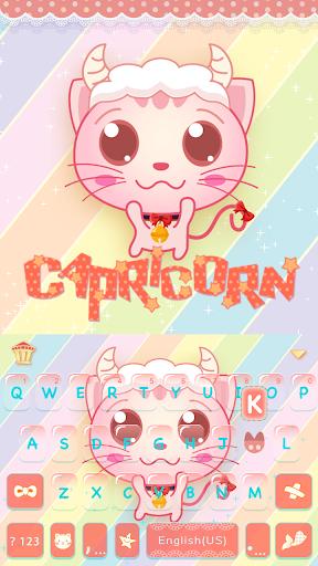 Capricorn Emoji keyboard Theme