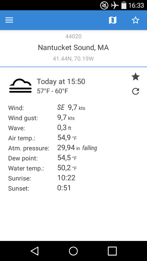 NOAA Buoys Live Marine Weather- screenshot