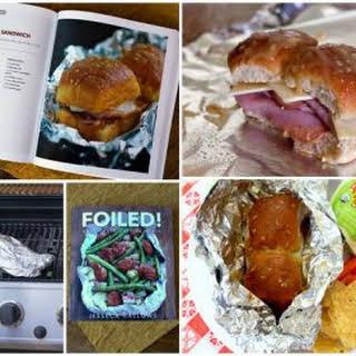 Tin Foil Ham And Cheese Sandwiches.