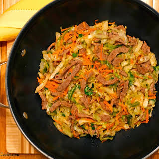 Quick Beef & Cabbage Stir-Fry.