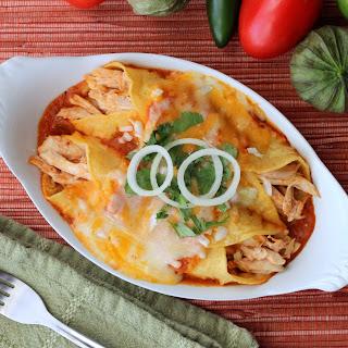 Authentic Enchiladas with Roasted Turkey.