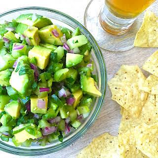 Cucumber-avocado Salsa.