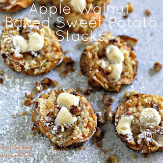 Apple Walnut Baked Sweet Potato Stacks