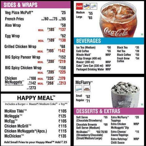 McDonald's menu 3
