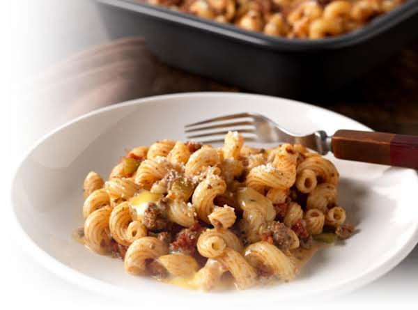Skillet Beef And Cheesy Pasta Recipe