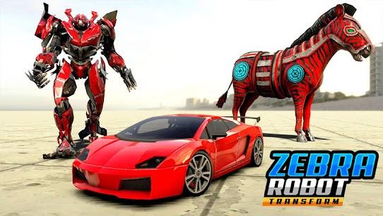 Zebra Robot Car Game: Car Transform Robot Games 5