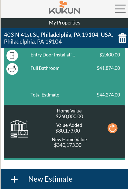 Kukun home remodeling costs roi android apps on for Apps for home remodeling