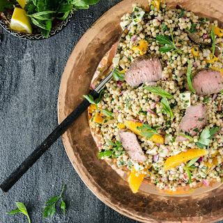 Israeli Cous Cous, Pumpkin and Dukkah Lamb Salad